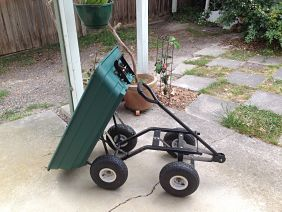 my garden cart tipping